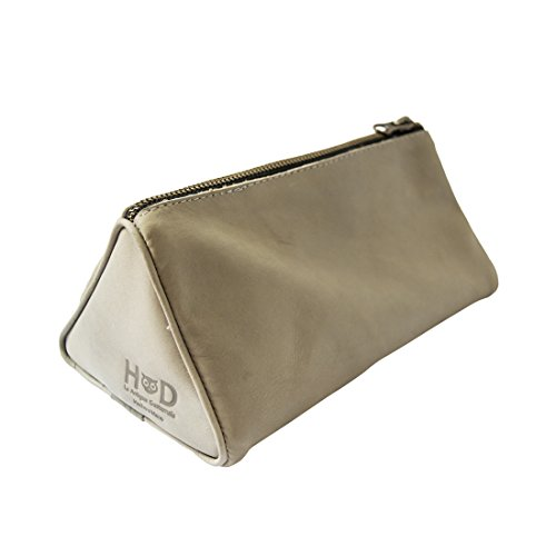 Soft Leather Travel Dopp Kit for Toiletries Handmade by Hide & Drink :: Stone Gray