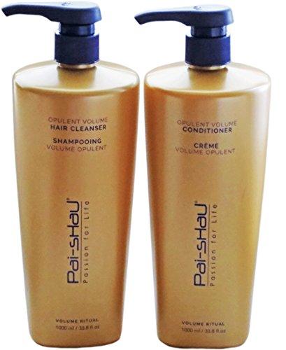 Pai Shau Opulent Volume Shampoo and Conditioner For Fine Hair 33.8 Oz / Liter Duo by PAI SHAU