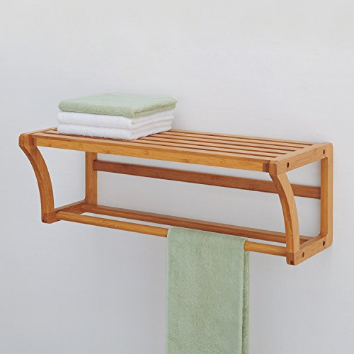 Organize It All Natural Bamboo Wall Mounting Shelf with Towel Bars by Organize It All (Image #2)