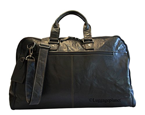 Garment Bag Valet (Jack Georges Voyager Leather Valet Convertible Duffle Garment Bag - Black)