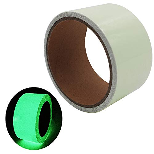 - ARTGEAR Glow in the dark self-adhesive tape, green light safe luminous tape sticker, 9.8 ft x 2 inch (3m x5cm): waterproof, removable, durable, wearable, stable, safety