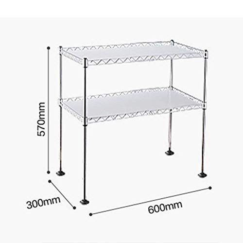 Chuan Han Kitchen Microwave Rack Oven Shelf Seasoning Organizer Stainless Steel Multifunction Home Accessories Save Space Storage 2 Layer 2 Size, b by Chuan Han (Image #1)