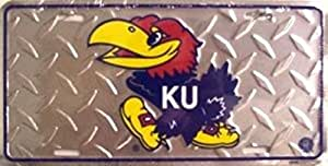 Kansas Jayhawks Metal College placa de licencia pared signo etiqueta