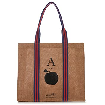 Amazon.com: Apple & Bee – A es para Apple – Eco bolsa Bolso ...