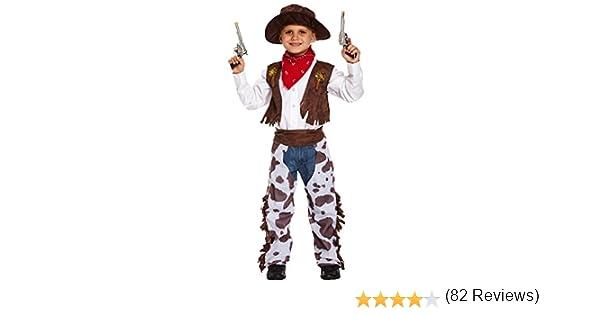 Boys Toys - Disfraz de cowboy para niño, talla 7-9 años (U36 018 ...
