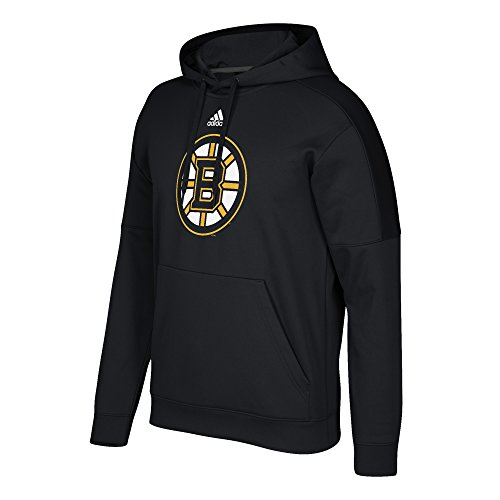 Boston Bruins Hooded Sweatshirt (adidas NHL Boston Bruins Adult Unisex Primary Logo Stand Out Fleece Hood, 3X-Large, Black)
