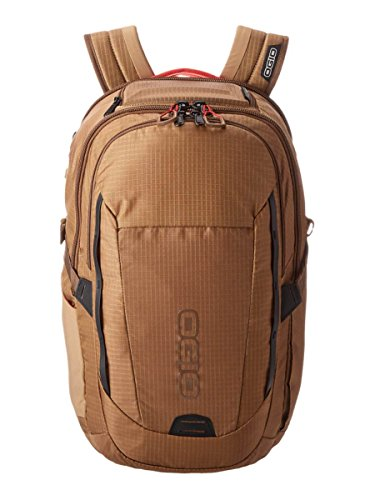 "OGIO Ascent Khaki Red 15"" Laptop Travel Backpack"