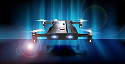 Odyssey Toys ODY-1716NX Real Pocket Drone that takes HD Video and pictures. Fold out motors makes it the same size as a smartphone - so it really does fit in your pocket! from Odyssey Toys