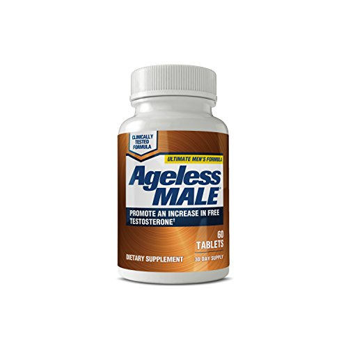 Ageless Male Testosterone Booster Supplement for Muscle Growth & Drive + E-BOOK! (60 Tablets)