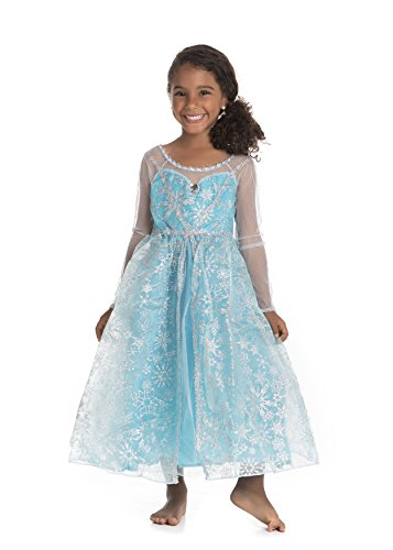 Frozen Elsa Snow Queen Costume Dress (SM 4/6) (Snow Queen Halloween Costume)