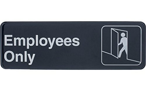 "Tablecraft  ""Employees Only"" Sign"