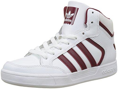 adidas Unisex-Erwachsene Varial Mid Hohe Sneaker Weiß (Footwear White/collegiate Burgundy/footwear White)