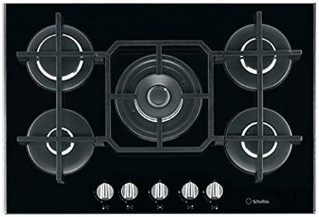 Scholtes SCHG 751 (BK) GH Incasso Piano cottura a gas Nero piano ...