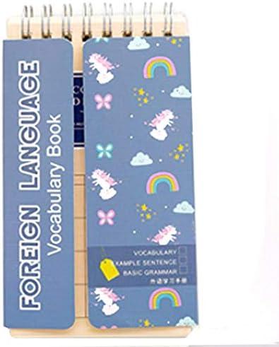 Swiftswan Kreatives englisches Wort-Spulen-Buch mit Wohnungs-Wortschatz-Notizbuch-Wort-Tagebuch-Notizblock-Handnotizbuch-Studenten-Briefpapier