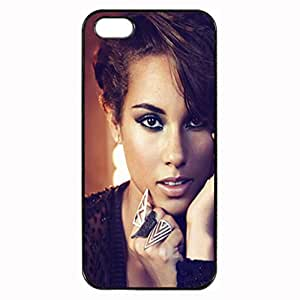 Black, iphone 5 Rubber Case - Alicia Keys Alicia Style Case Photo Design Durable Rubber Tpu Silicone Case Cover For iPhone 5 5S