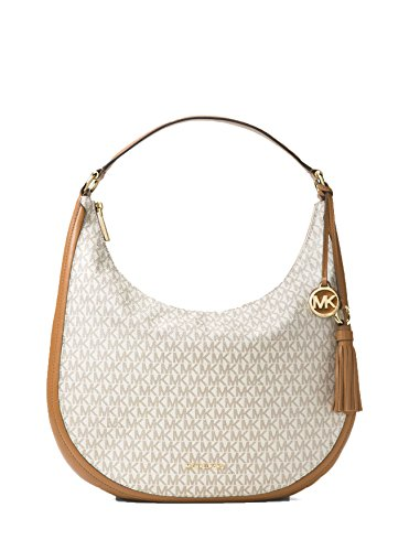 MICHAEL Michael Kors Lydia Logo Shoulder Bag, Color Vanilla by Michael Kors