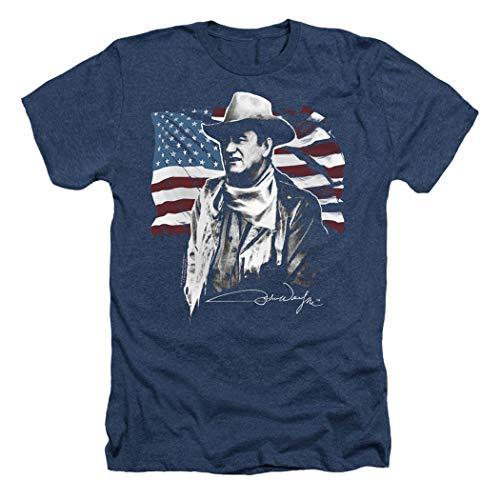 John Wayne American Icon T Shirt & Stickers (Large) Navy