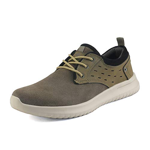 Shoe Men Walking (Bruno Marc Men's Walking Shoes Suede Fashion Sneakers Walk-Lite-01 Khaki Size 12 M US)