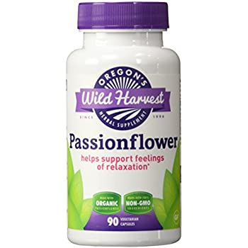 Oregons Wild Harvest Passionflower Organic Capsules, 90 Count