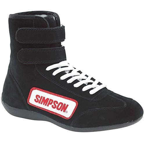 (SIMPSON SAFETY Size 9 Black High-Top Driving Shoes P/N 28900BK )