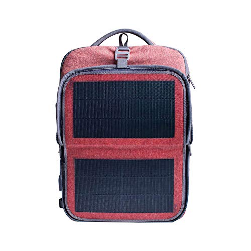 HANERGY Solar Backpack 16 inches Laptop Backpacks 9W Solar Panel Charger Business Tablets Travel Backpacks for Men Women, with 2 USB Charging Port