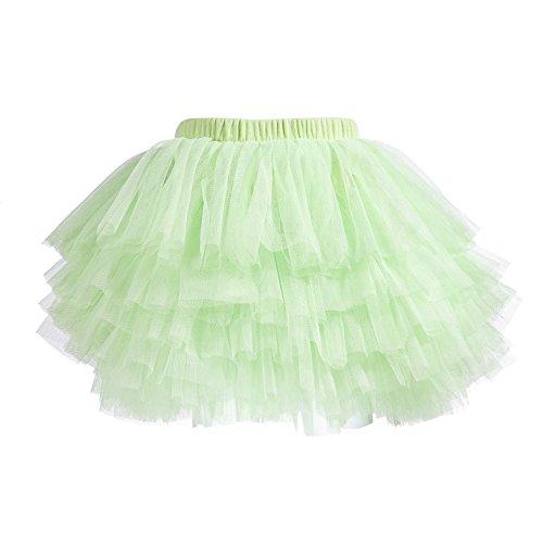 Lucky-BB Baby Girls' Tutu Skirt Toddler 6 Layered Tulle Tutus 1-8T