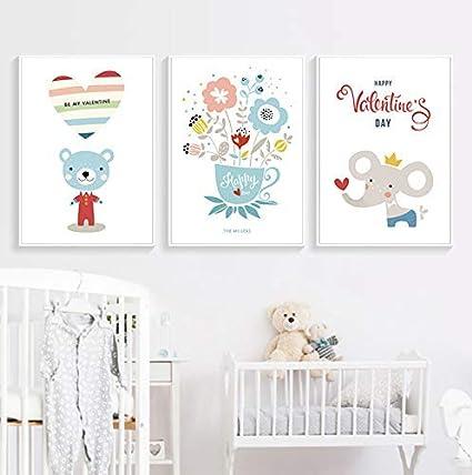 Diy diamante pintura de gama alta elegante decoración lindo oso de dibujos animados grande torpe con arte floral pintura cuadro abstracto pared niños dormitorio decoración del hogar