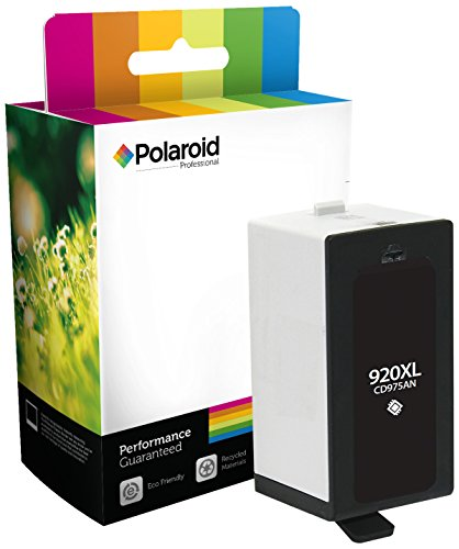 Polaroid Professional H-WC920XLB-PRO Remanufactured Inkjet Cartridge Replacement for HP920XL (CD975AN), Black Ink (Cartridge Replacement Ink Epson Polaroid)
