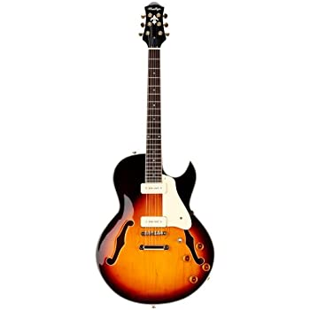 prestige guitars 6 string semi hollow body electric guitar right handed musician. Black Bedroom Furniture Sets. Home Design Ideas