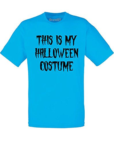 Pinterest Male Halloween Costumes (This is my Halloween Costume, Mens Printed T-Shirt - Azure/Black)