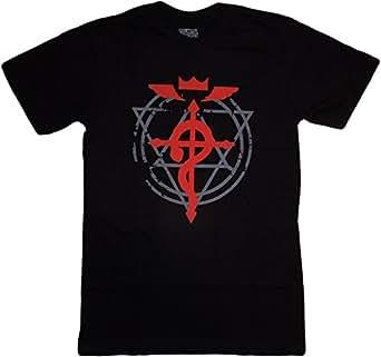 Fullmetal Alchemist Brotherhood: Flamel Cross T-Shirt, Adult Small