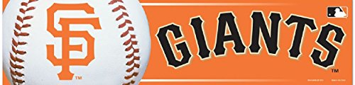 WinCraft MLB San Francisco Giants Bumper Sticker, Team Color, One (Mlb Team Decal)