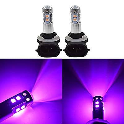 2x 881 889 14000K Purple 50W LED Headlight Bulbs Kit Fog Driving Light: Automotive