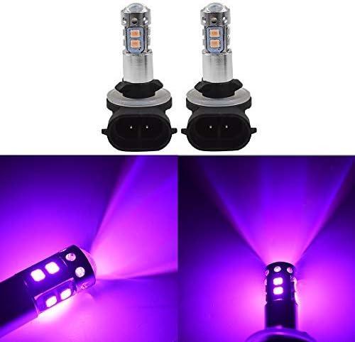 CREE LED Headlight Kit 881 White 6000K Fog Light Bulbs for KIA Sedona 2002-2005