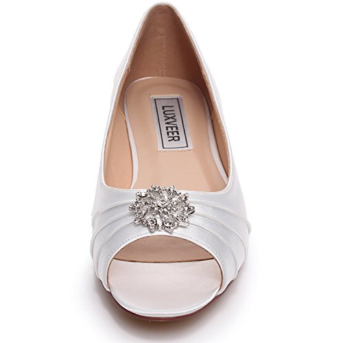 Most Popular Ivory Peep Toe Wedding Shoes