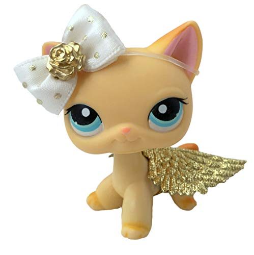 Littlest Pet Shop Accessories LPS Lot Bow Angel Fairy Wings CAT NOT Included (Lot Cat)