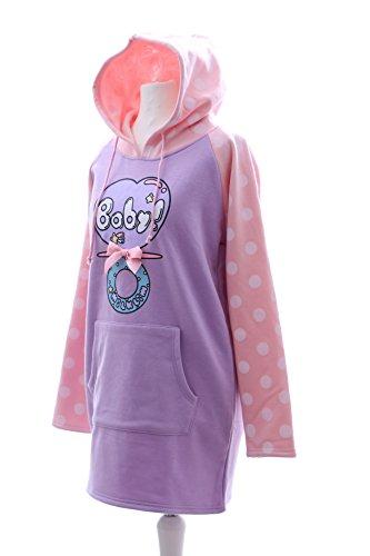 TS-57 Cute Baby Schnuller Herz Rosa Lila Pink Pastel Goth Lolita Pullover Kapuzen Sweatshirt Harajuku Japan Kawaii-Story