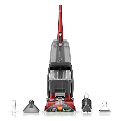 Hoover Power Scrub Deluxe Carpet Cleaner Machine, Upright Shampooer, FH50150, Red (Steam Carpet Cleaner Machine)