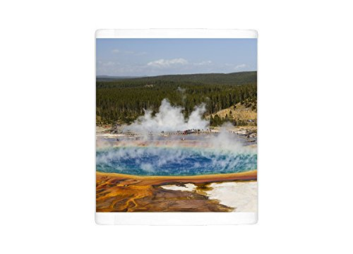 Third Geyser Basin - Mug of Elevated view of Grand Prismatic Spring, the largest in the U (13984528)