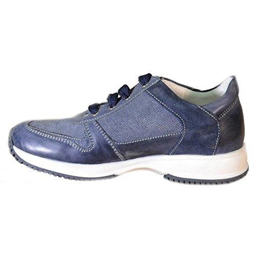 Primigi - Primigi Kinder Schuhe Blau Leder Textil 82762 Blau