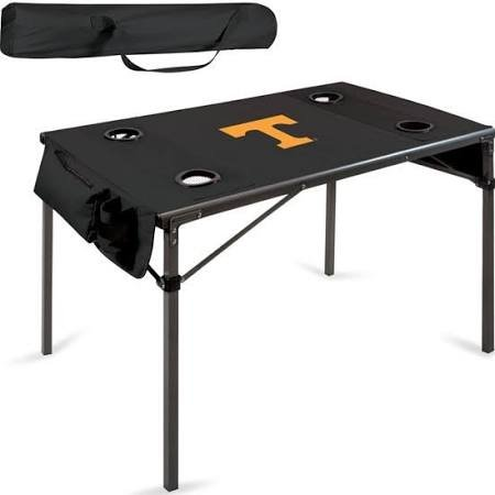 (NCAA Tennessee Volunteers Soft Top Travel Table, Black)