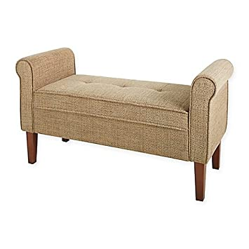 Amazon.com: Chatham House Hampshire Faux-Leather Settee in ...
