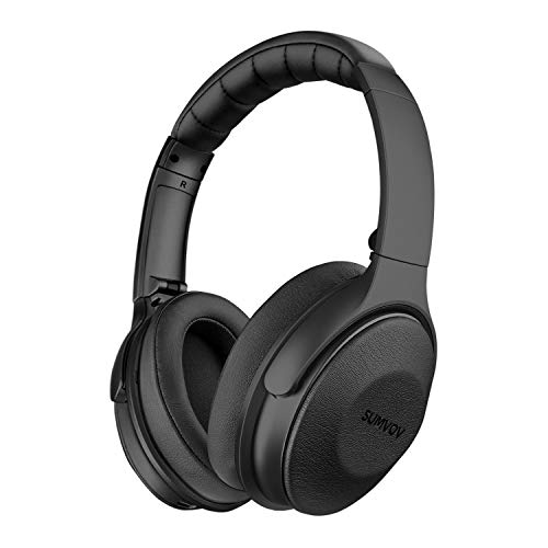 Sumvov Wireless Headphones Over Ear, Bluetooth Headphones 5.0 with Mic, Quick Charge, 30 Hours Playtime, Deep Bass, Comfortable Protein Earpads, Hi-Fi Stereo Foldable Headset, for Cellphone/TV/PC