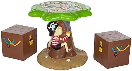 Niños pirata jardín al aire libre muebles de jardín de – Aventura Mapa mesa y sillas de cofre del tesoro para niños por Alfresia: Amazon.es: Jardín