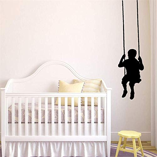 (FSDS Boy Silhouette Swinging for Kids Room Nursery Nursery)