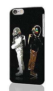 Daft punk Pattern Image - Protective 3d Rough Case Cover - Hard Plastic 3D Case - For iPhone 6 Plus- 5.5