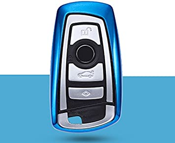 ontto for BMW Keycase Premium Soft TPU 360 Degree Full Protection Remote Control Key Shell Key Case Key Rings Cover for BMW 1 3 4 5 6 7 Series and Compatible with BMW X3 X4 M2 M3 Keyless Silver