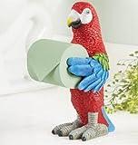Tropical Parrot Toilet Paper Holder 14 1/4''H Resin Plastic