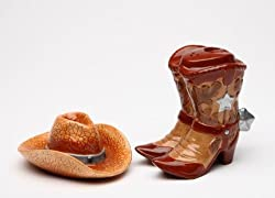 cowboy boot and hat shakers