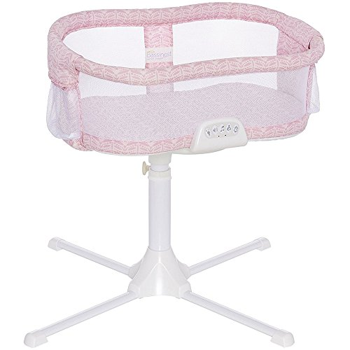Halo - Swivel Sleeper Bassinet Premiere Series - Rose Leaf with Pink 100 Cotton Fitted Sheet by Halo (Image #1)'